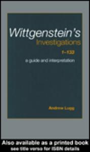 Ebook in inglese Wittgenstein's Investigations 1-133 Lugg, Andrew