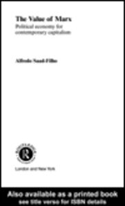 Ebook in inglese The Value of Marx Filho, Alfredo Saad