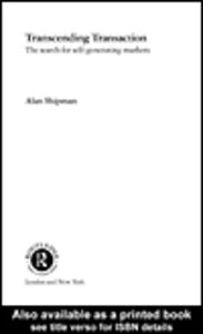 Ebook in inglese Transcending Transaction Shipman, Alan