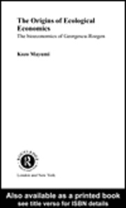 Ebook in inglese The Origins of Ecological Economics Mayumi, Kozo