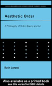 Ebook in inglese Aesthetic Order Lorand, Ruth