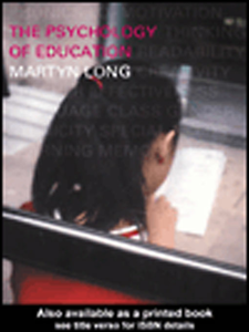 Ebook in inglese The Psychology of Education Long, Martyn