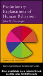 Ebook in inglese Evolutionary Explanations of Human Behaviour Cartwright, John H.