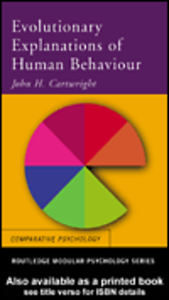 Ebook in inglese Evolutionary Explanations of Human Behaviour Cartwright, John H.