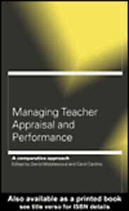 Foto Cover di Managing Teacher Appraisal and Performance, Ebook inglese di Carol Cardno,David Middlewood, edito da