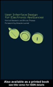 Foto Cover di User Interface Design for Electronic Appliances, Ebook inglese di Konrad Baumann,Bruce Thomas, edito da