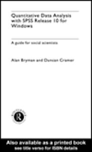 Ebook in inglese Quantitative Data Analysis with SPSS Release 10 for Windows Bryman, Alan , Cramer, Duncan