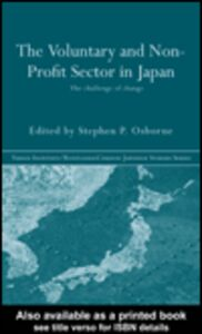 Ebook in inglese The Voluntary and Non-Profit Sector in Japan