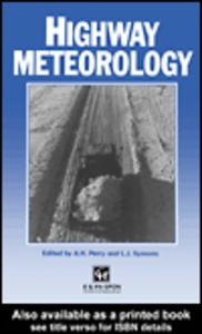 Ebook in inglese Highway Meteorology