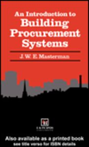 Ebook in inglese An Introduction to Building Procurement Systems Masterman, J.W.E.