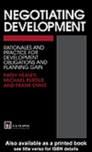 Ebook in inglese Negotiating Development Ennis, F. , Healey, P. , Purdue, M.