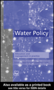Ebook in inglese Water Policy