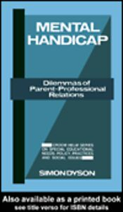 Ebook in inglese Mental Handicap Dyson, Simon