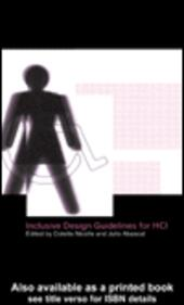 Inclusive Design Guidelines for Human-Computer Interaction
