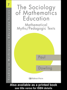 Ebook in inglese The Sociology of Mathematics Education Dowling, Paul
