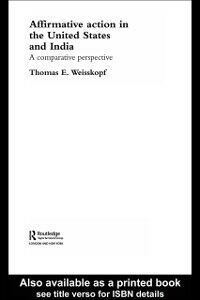 Foto Cover di Affirmative Action in the United States and India, Ebook inglese di Thomas E Weisskopf, edito da Taylor and Francis