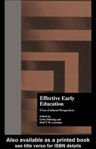 Foto Cover di Effective Early Childhood Education, Ebook inglese di Lotty Eldering, edito da Taylor and Francis