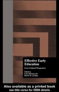 Ebook in inglese Effective Early Childhood Education Eldering, Lotty