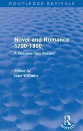 Novel and Romance 1700-1800 (Routledge Revivals)