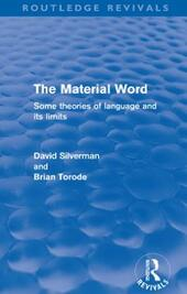 Material Word (Routledge Revivals)