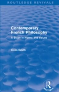 Ebook in inglese Contemporary French Philosophy (Routledge Revivals) Smith, Colin