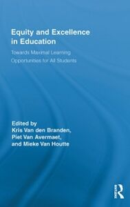 Ebook in inglese Equity and Excellence in Education