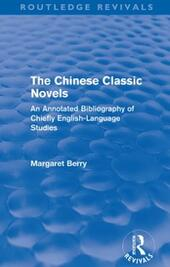 Chinese Classic Novels (Routledge Revivals)