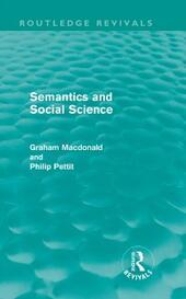 Semantics and Social Science (Routledge Revivals)