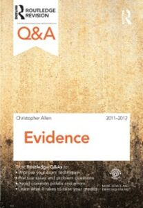 Ebook in inglese Q&A Evidence 2011-2012 Allen, Christopher