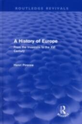 History of Europe (Routledge Revivals)