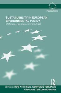 Foto Cover di Sustainability in European Environmental Policy, Ebook inglese di  edito da