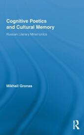 Cognitive Poetics and Cultural Memory