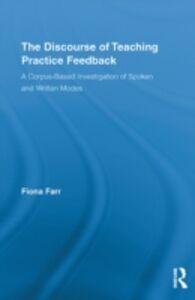 Ebook in inglese Discourse of Teaching Practice Feedback Farr, Fiona