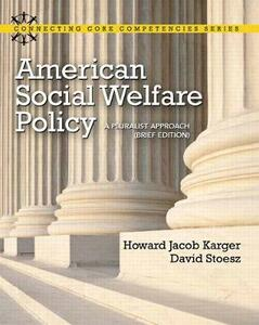 American Social Welfare Policy: A Pluralist Approach, Brief Edition - Howard Karger,David Stoesz - cover