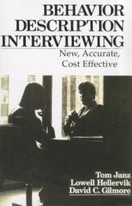 Behavior and Descriptive Interviewing - Tom Janz,etc. - cover