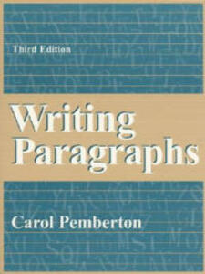 Writing Paragraphs - Carol Pemberton - cover