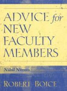 Advice for New Faculty Members - Robert Boice - cover
