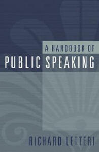 A Handbook of Public Speaking - Richard Letteri - cover
