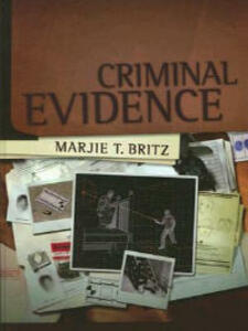 Criminal Evidence - Marjie T. Britz - cover