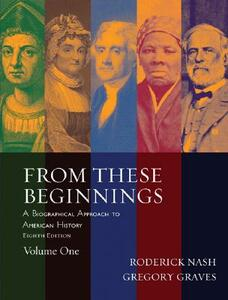 From These Beginnings, Volume 1 - Roderick Nash,Gregory Graves - cover