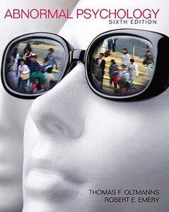 Abnormal Psychology - Thomas F. Oltmanns,Robert E. Emery - cover