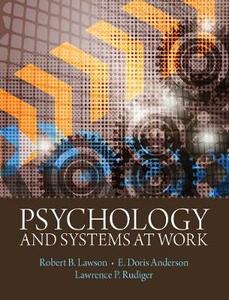 Psychology and Systems at Work - Robert B. Lawson,E. Doris Anderson,Larry Rudiger - cover