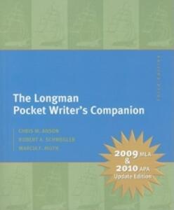 The Longman Pocket Writer's Companion: MLA Update Edition - Chris M. Anson,Robert A. Schwegler,Marcia F. Muth - cover