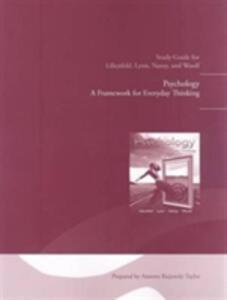 Study Guide for Psychology: A Framework for Everyday Thinking - Scott O. Lilienfeld,Steven J. Lynn,Laura L. Namy - cover
