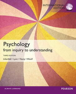 Psychology: From Inquiry to Understanding: International Edition - Scott O. Lilienfeld,Steven J. Lynn,Laura L. Namy - cover