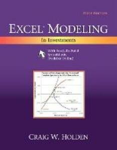 Excel Modeling in Investments - Craig W. Holden - cover