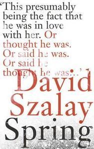 Spring - David Szalay - cover