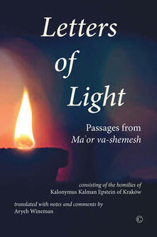 Letters of Light: Passages from Ma'or va-shemesh - Kalonymus Kalman Epstein - cover