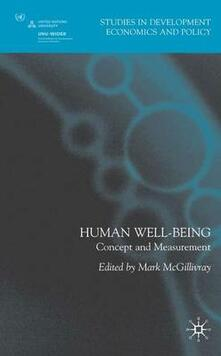 Human Well-Being: Concept and Measurement - cover