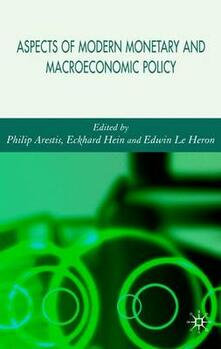 Aspects of Modern Monetary and Macroeconomic Policies - cover